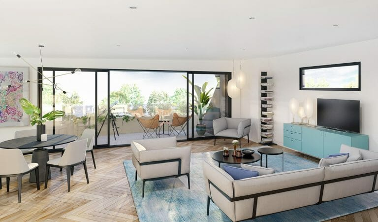 Beach Road Living, Sandringham - Interior Render