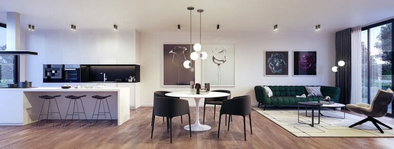 Walter Street, Hadfield - Living - Interior Render