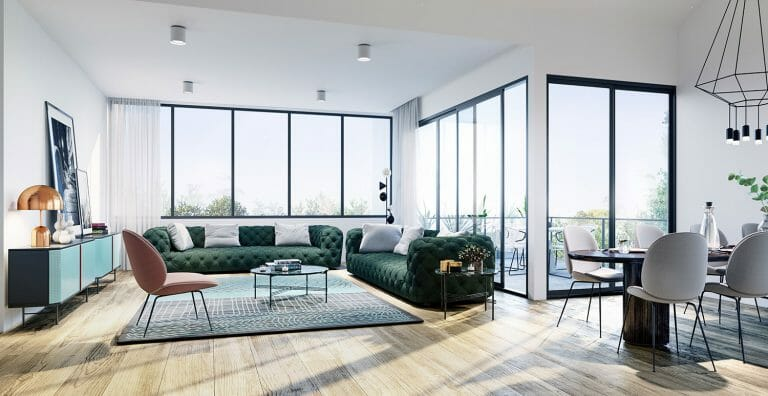 Willis Street, Hampton - Interior Render