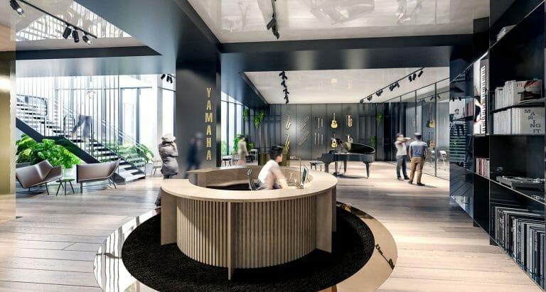 Yamaha Music Australia - Interior Render