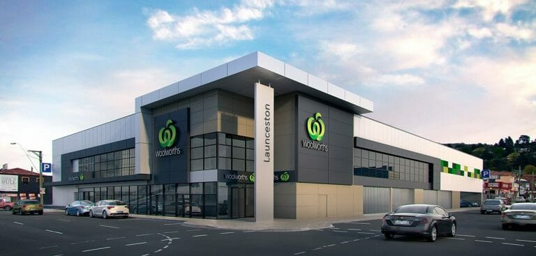 Launceston Woolworths photomontage
