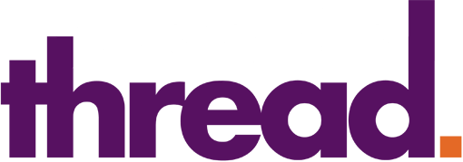 The Graphical Thread logo (white-purple)